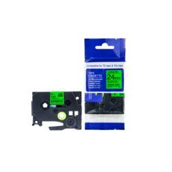 Taśma Brother TZE731 12mm zielona/czarny nadruk
