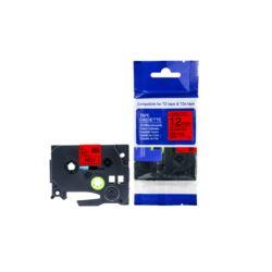 Taśma Brother TZE431 12mm czerwona/czarny nadruk